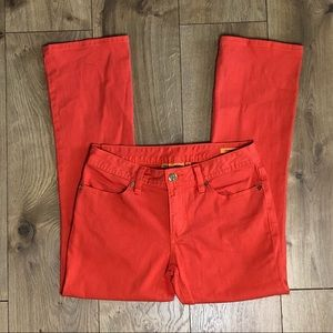 Tory Burch Cropped Jeans in Orange size 26